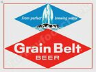 """GRAIN BELT BEER FROM PERFECT BREWING WATER 9"""" x 12"""" METAL SIGN"""