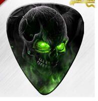 PLETTRO TESCHIO basso chitarra elettrica acustica scheletro plettri skull picks