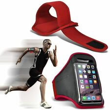 Quality Sports Armband  Gym Running Workout Belt Strap Phone Case Cover✔Red