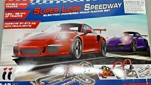 Super loop speedway electric-powered road racing set