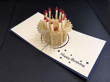 Birthday card handmade 3d pop up & origami