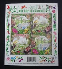 Singapore Our City in a Garden Self-Adhesive Sheetlet Stamps with Seed 2013