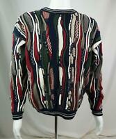 Cotton Traders Men's Coogi Style Cosby Biggie Textured Sweater Multicolor Large