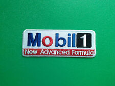 MOTOR RACING OILS, FUELS & TYRES SEW ON / IRON ON PATCH:- MOBIL 1 (g) ADVANCED