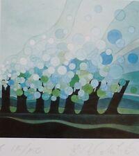 "ANGELIKA BARTHEL-MUHLACK ""Abstract III"" HAND SIGNED SERIGRAPH 1985 German Artist"