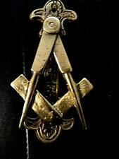 Masonic Vintage (1920s) Master Mason Square & Compasses Solid Brass Door Knocker