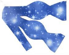 Christmas Bow tie / White Nativity Stars / Winter Blue Sky / Self-tie Bow tie