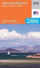 OS Explorador Mapa (390) Ardnamurchan,Moidart,Sunart y Lago Shiel By Ordnance S