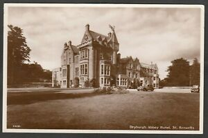 Postcard St Boswells nr Jedburgh Scottish Borders the Dryburgh Abbey Hotel RP