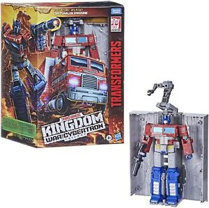 Transformers Toys War for Cybertron: Kingdom Leader Optimus Prime Action Figure