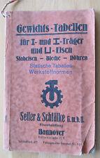 Gewichtstabelle Statische Tabellen Werkstoffnormen Seiler&Schläfke GmbH Hannover