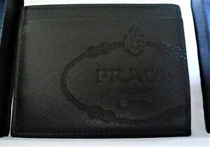 Prada  Logo-debossed saffiano-leather cardholder (New)