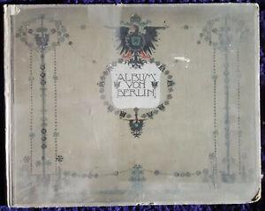 antique DEUTSCHLAND   ALBUM VON BERLIN  vor hundert jahren 1800 .(to  1900)