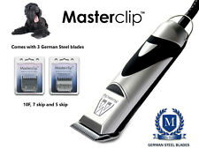 BLACK RUSSIAN TERRIER DOG Clippers Set con 3 lame da Masterclip Professional