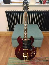 More details for epiphone riviera custom p93  2019 guitar with bigsby in wine red