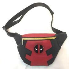 Anime Spider-Man Deadpool Leather pu Men's Waist Bag Fanny Bag Pack Zip Belt Bag