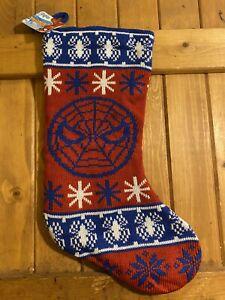 Marvel Comics Amazing Spider-Man Knit Christmas Sweater Stocking New!