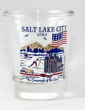 SALT LAKE CITY UTAH GREAT AMERICAN CITIES COLLECTION SHOT GLASS SHOTGLASS