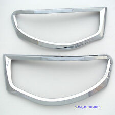 2 x CHROME HEAD LIGHT TRIMS TRIM RIM MITSUBISHI TRITON MN ML 2005 - 2012 06 07
