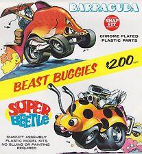 VINTAGE AD SHEET #1849 - LINDBERG BEAST BUGGIES MODEL CAR KITS