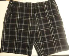 Arizona Men's Black Plaid Shorts Sizes 31, 32, 34, 36, 38, 40, 42  Big and Tall