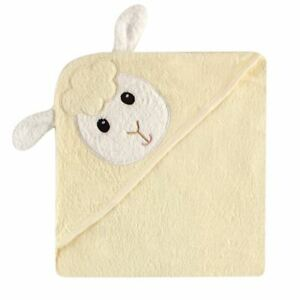 Luvable Friends Animal Face Hooded Towel, Lamb
