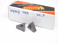 NEW SURPLUS 10PCS. VALENITE  TNMG 333  GRADE: VC7  CARBIDE INSERTS