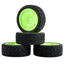 RC Rubber Racing Tires W/Sponge & Wheel 4P For HPI 1/10 Touring Car (56-8014)