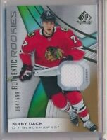 2019-20 SP Game Used Authentic Rookies Jersey 193 Kirby Dach /599 Blackhawks
