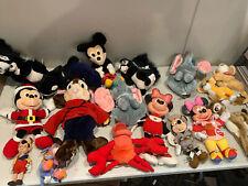 Lot Of 17 Vintage Plush Dolls Mostly Disney Mickey Mambi Dumbo Lion King
