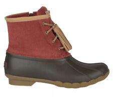 Sperry Women's Saltwater Tassel Corduroy Duck Boot Red size 8
