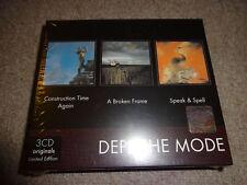 DEPECHE MODE Construction Time Again A broken frameSpeak and Spell 3 CD Box Set