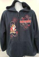 Disney Grumpy Hooded Hoodie Dark Blue and Red Size XXL