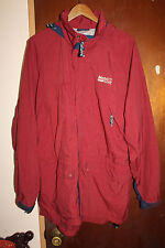 Mobil One Racing Gas Station Men's Maroon Jacket Size XL