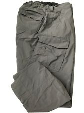 REI Mens Relaxed Nylon Spandex Cargo Hiking Pants Gray 32 L