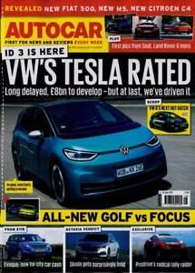 AUTOCAR MAGAZINE 17 - 24 JUNE 2020 (VW's TESLA, NEW GOLF v FOCUS, EVOQUE) NEW