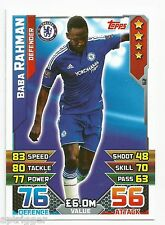 2015 / 2016 EPL Match Attax Base Card (62) Baba RAHMAN Chelsea