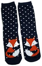 LADIES WINTER FOX IN THE SNOW FOXES SOCKS UK 4-8 EUR 37-42 USA 6-10