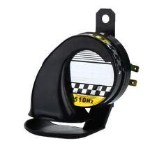Electric Loud Snail Air Horn Siren Waterproof 12V Black Car Truck Boat 130DB HOT