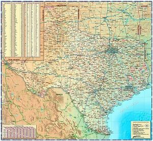 Texas Wall Map by Compart