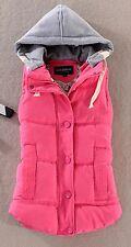 Plus Size Winter Women Vest Hooded Jacket Warm Gilet Ladies Sleeveless Waistcoat
