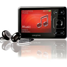 Creative Zen Black 16GB FM Radio VIDEO AAC WMA WAV MP3 Audible Media Player Used