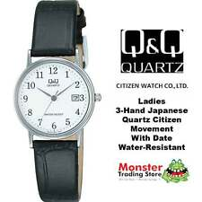 AUSSIE SELLER LADIES LEATHER BAND WATCH WITH DATE CITIZEN MADE BL05J304 WARRANTY