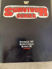 Vintage WWF Survivor Series 1987 Program With Card