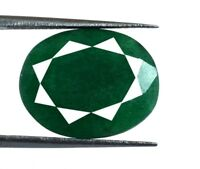 11 Carat+ Natural Oval Cut Brazilian Green Emerald Loose Gemstone Best Offer