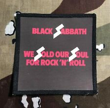 Black Sabbath We Sold Our Souls Printed Patch B050P Ozzy Dio Iron Maiden