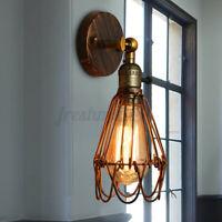 E27 Loft Retro Vintage Lamp Shade Metal Rustic Sconce Wall Fixture Light