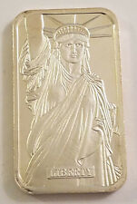 1982 JOHNSON MATTHEY ~ JM MTB ~ STATUE OF LIBERTY SILVER ART BAR ~EXCELLENT COND