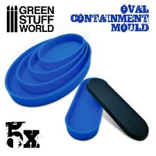 5x Containment Moulds for Bases - Oval - for Resins - Resin Liquid AOS Game