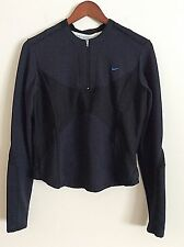 Nike Sphere Dry Running Top Size Large 12 14 Black Workout Fitness Long Sleeve